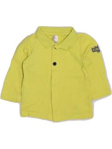 Polo de manga larga niño ORCHESTRA amarillo 6 meses invierno #1383251_1