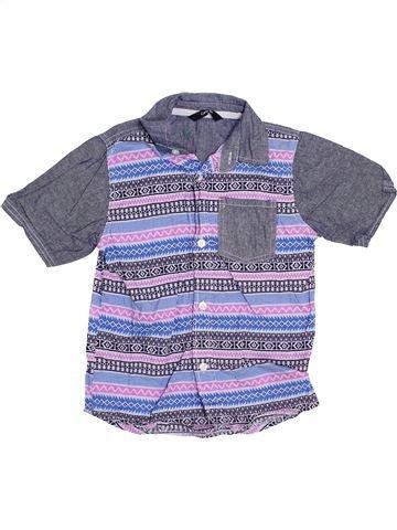 Chemise manches courtes garçon GEORGE bleu 5 ans été #1383476_1