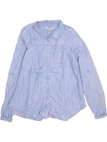 Blouse manches longues fille CREEKS bleu 16 ans hiver #1384074_1