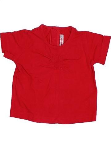 T-shirt manches courtes fille CLAYEUX rouge 18 mois été #1384917_1