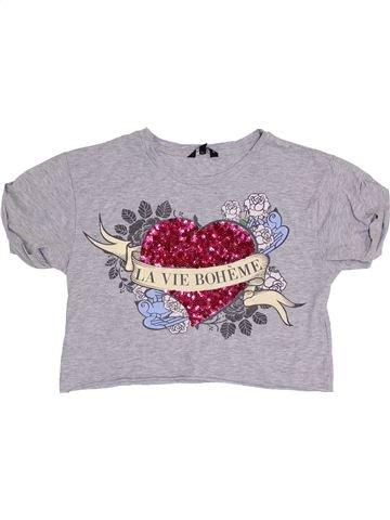 Camiseta de manga corta niña CANDY COUTURE gris 13 años verano #1385507_1