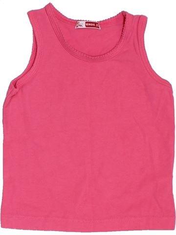 T-shirt sans manches fille DPAM rose 18 mois été #1386355_1