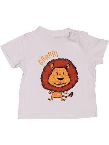 T-shirt manches courtes garçon KIMBALOO blanc 12 mois été #1387478_1