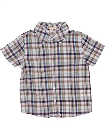 Chemise manches courtes garçon GRAIN DE BLÉ gris 18 mois été #1388187_1