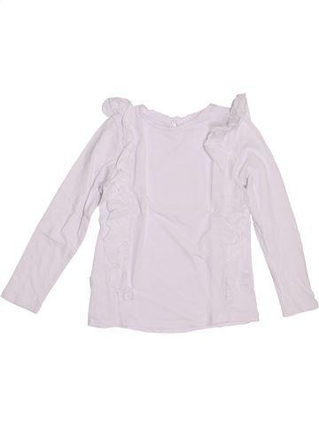 T-shirt manches longues fille MONOPRIX blanc 6 ans hiver #1388229_1