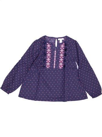 Blusa de manga larga niña OKAIDI violeta 6 años invierno #1388241_1