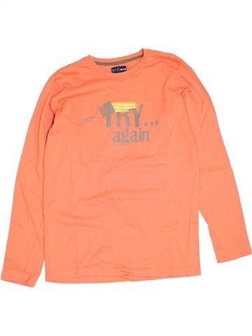 T-shirt manches longues garçon YCC-214 orange 14 ans hiver #1389445_1