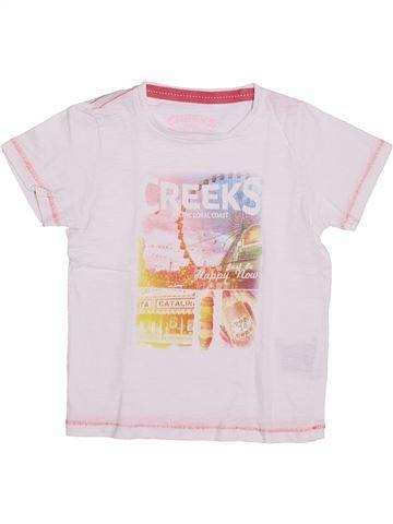 T-shirt manches courtes garçon CREEKS blanc 5 ans été #1389883_1