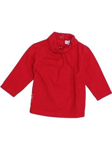 T-shirt col roulé fille ALPHABET rouge 6 mois hiver #1389909_1
