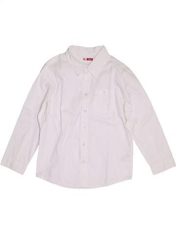 Chemise manches longues garçon DPAM blanc 8 ans hiver #1390485_1