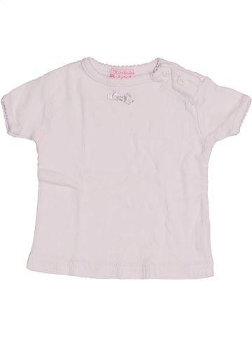 T-shirt manches courtes fille KIMBALOO blanc 3 mois été #1390548_1