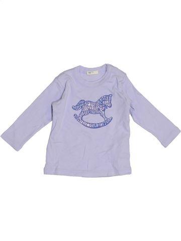 T-shirt manches longues garçon BENETTON violet 6 mois hiver #1391229_1