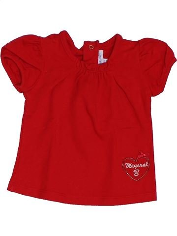 Camiseta de manga corta niña MAYORAL rojo 3 meses verano #1392361_1