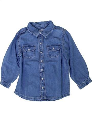 Blusa de manga larga niña BOUT'CHOU azul 2 años invierno #1393240_1