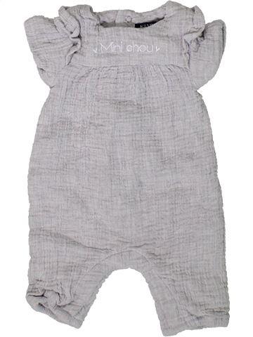 Combinaison courte fille KIABI gris 1 mois été #1393322_1