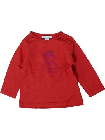 T-shirt manches longues fille OKAIDI rouge 6 mois hiver #1393923_1