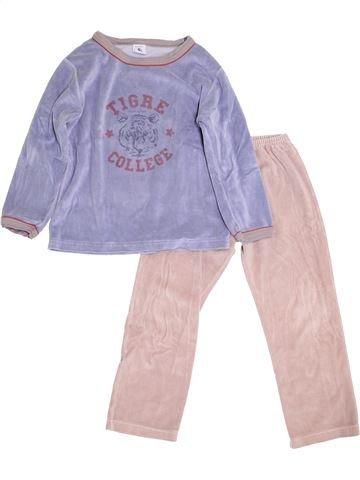 Pijama de 2 piezas niño PETIT BATEAU violeta 6 años invierno #1393961_1
