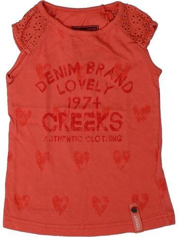 T-shirt manches courtes fille CREEKS rouge 3 ans été #1394478_1