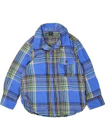 Chemise manches longues garçon GAP bleu 3 ans hiver #1394827_1