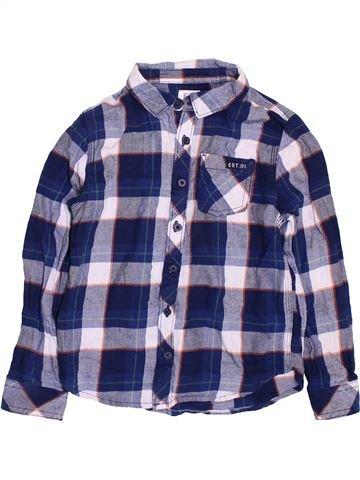 Camisa de manga larga niño F&F azul 7 años invierno #1395038_1