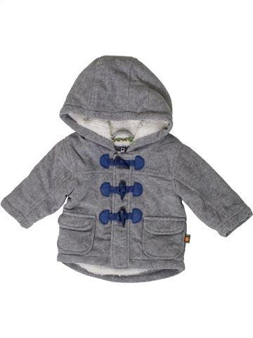 Manteau garçon BLUEZOO gris 3 mois hiver #1395087_1