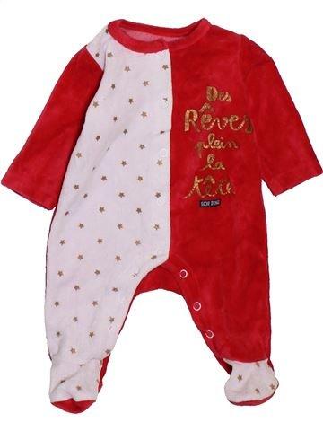 Pijama de 1 pieza niño SUCRE D'ORGE rojo 1 mes invierno #1395113_1