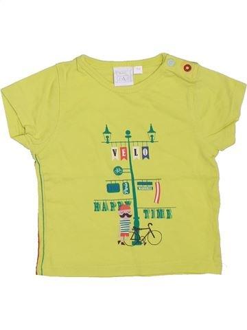 Camiseta de manga corta niño CADET ROUSSELLE amarillo 3 meses verano #1395144_1