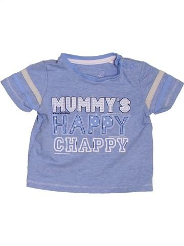 T-shirt manches courtes garçon TU bleu 3 mois été #1395171_1