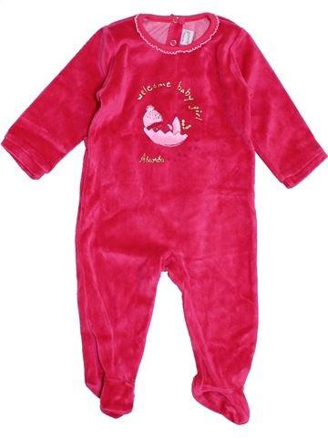 Pyjama 1 pièce fille ABSORBA rose 6 mois hiver #1395262_1