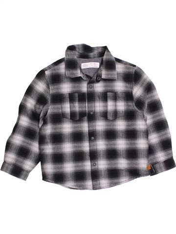 Chemise manches longues garçon ZARA gris 4 ans hiver #1395960_1
