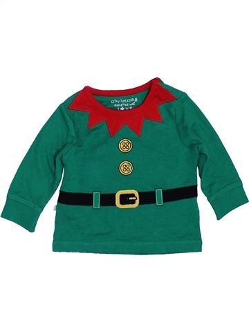 T-shirt manches longues garçon F&F vert 1 mois hiver #1396622_1
