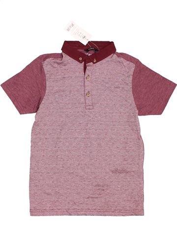 Polo manches courtes garçon GEORGE violet 10 ans hiver #1396623_1