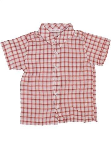 Chemise manches courtes garçon GRAIN DE BLÉ rose 18 mois été #1396828_1