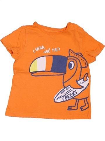T-shirt manches courtes garçon CREEKS orange 18 mois été #1397136_1