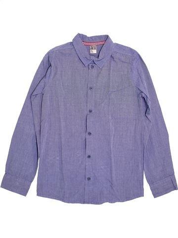 Chemise manches longues garçon TAPE À L'OEIL bleu 10 ans hiver #1397431_1