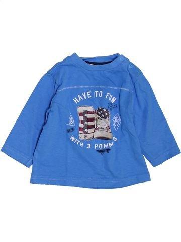 Camiseta de manga larga niño 3 POMMES azul 6 meses invierno #1397604_1