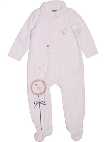Pijama de 1 pieza niña VERTBAUDET blanco 2 años invierno #1397762_1