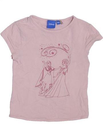 T-shirt manches courtes fille DISNEY rose 5 ans été #1397843_1