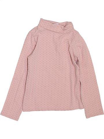T-shirt col roulé fille LH BY LA HALLE rose 3 ans hiver #1397951_1