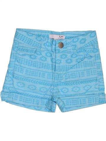 Short - Bermuda fille LH BY LA HALLE bleu 3 ans été #1397954_1