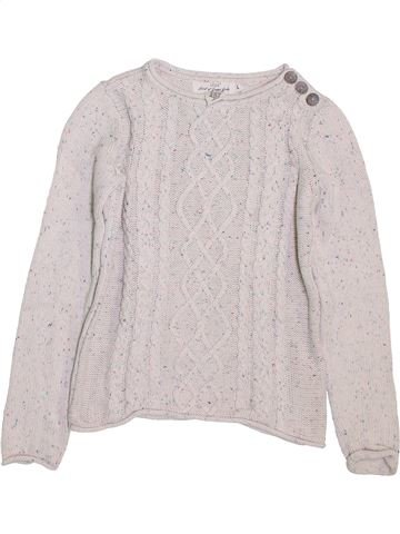 Pull fille H&M blanc 10 ans hiver #1398027_1