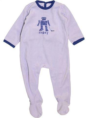 Pyjama 1 pièce garçon PETIT BATEAU blanc 18 mois hiver #1398074_1