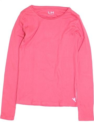 T-shirt manches longues fille LH BY LA HALLE rose 14 ans hiver #1398222_1