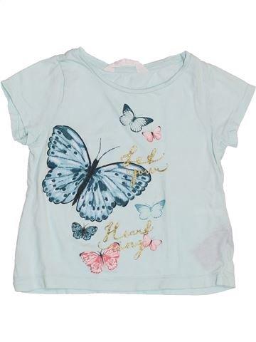 T-shirt manches courtes fille H&M bleu 2 ans été #1398236_1