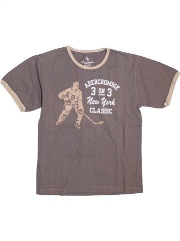 T-shirt manches courtes garçon ABERCROMBIE ET FITCH marron 12 ans été #1398256_1