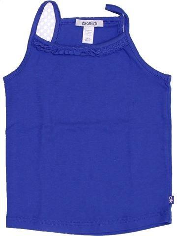 T-shirt sans manches fille OKAIDI bleu 3 ans été #1398381_1