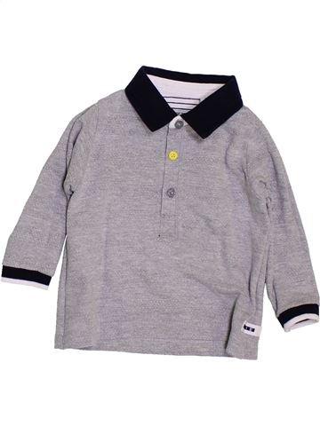 Polo manches longues garçon IKKS gris 6 mois hiver #1398478_1
