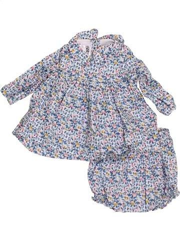 Robe fille PETIT BATEAU gris 1 mois hiver #1398532_1