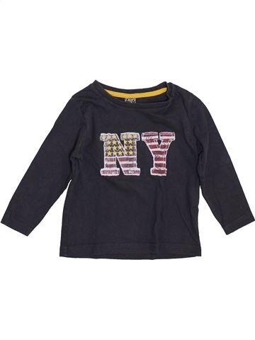 T-shirt manches longues garçon TAPE À L'OEIL noir 2 ans hiver #1399101_1