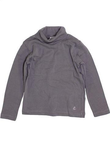 T-shirt col roulé garçon PETIT BATEAU gris 4 ans hiver #1399186_1